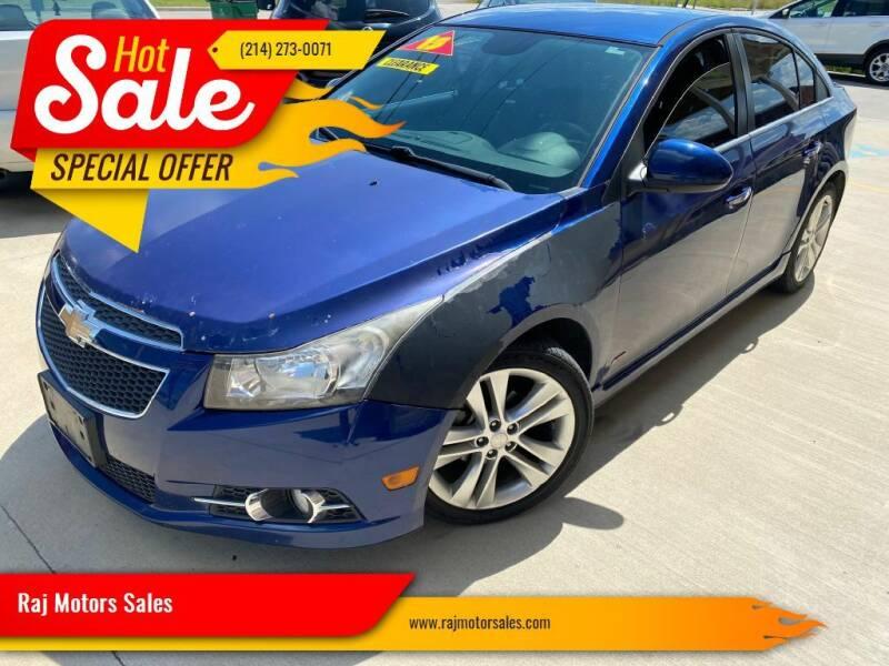 2013 Chevrolet Cruze for sale at Raj Motors Sales in Greenville TX