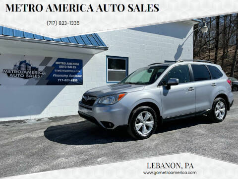 2015 Subaru Forester for sale at METRO AMERICA AUTO SALES of Lebanon in Lebanon PA