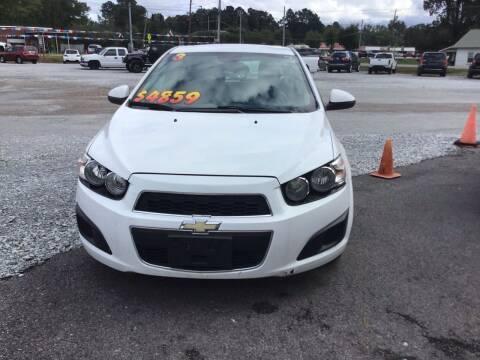2013 Chevrolet Sonic for sale at K & E Auto Sales in Ardmore AL