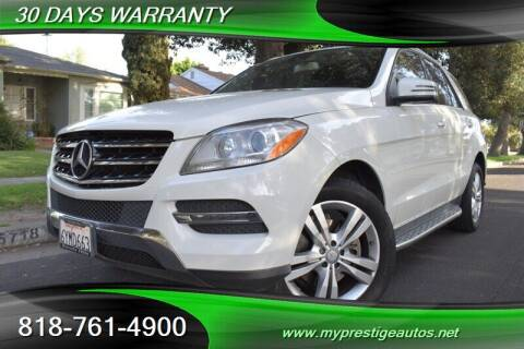 2013 Mercedes-Benz M-Class for sale at Prestige Auto Sports Inc in North Hollywood CA