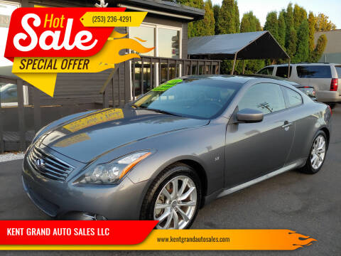 2014 Infiniti Q60 Coupe for sale at KENT GRAND AUTO SALES LLC in Kent WA
