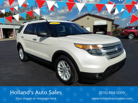 2015 Ford Explorer for sale at Holland's Auto Sales in Harrisonville MO