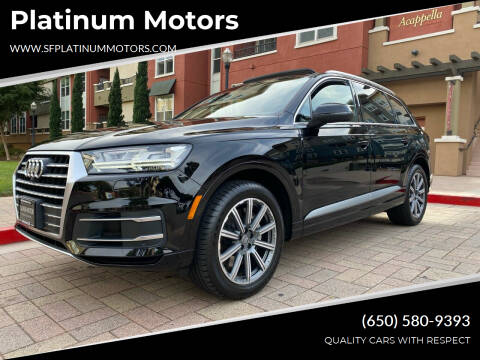 2017 Audi Q7 for sale at Platinum Motors in San Bruno CA