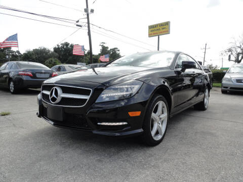 2013 Mercedes-Benz CLS for sale at GREAT VALUE MOTORS in Jacksonville FL