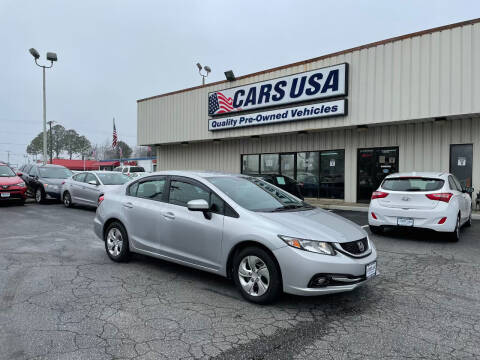2015 Honda Civic for sale at Cars USA in Virginia Beach VA