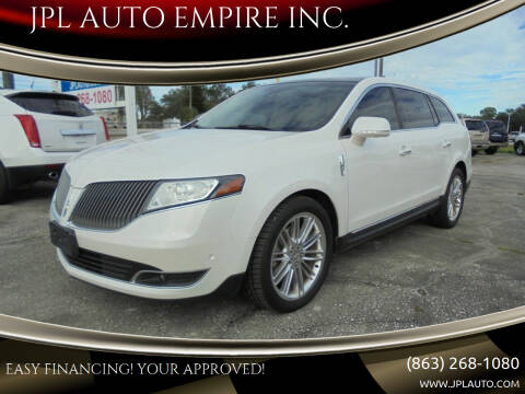 2013 Lincoln MKT for sale at JPL AUTO EMPIRE INC. in Auburndale FL