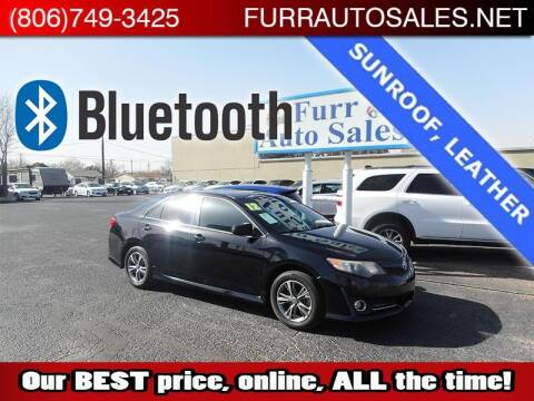 2012 Toyota Camry for sale at FURR AUTO SALES in Lubbock TX