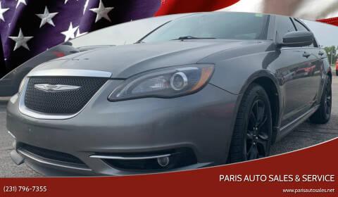 2013 Chrysler 200 for sale at Paris Auto Sales & Service in Big Rapids MI