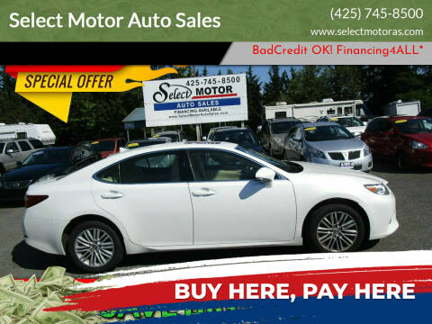 2014 Lexus ES 350 for sale at Select Motor Auto Sales in Lynnwood WA