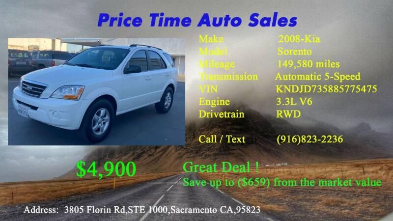 2008 Kia Sorento for sale at PRICE TIME AUTO SALES in Sacramento CA