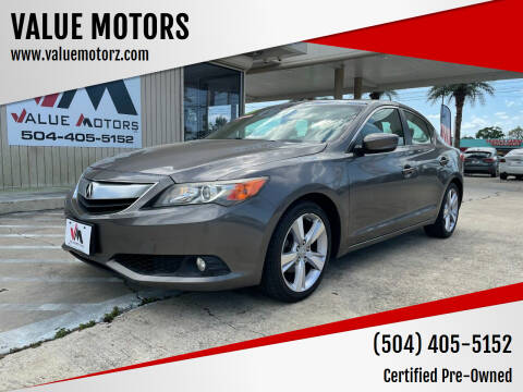 2013 Acura ILX for sale at VALUE MOTORS in Kenner LA