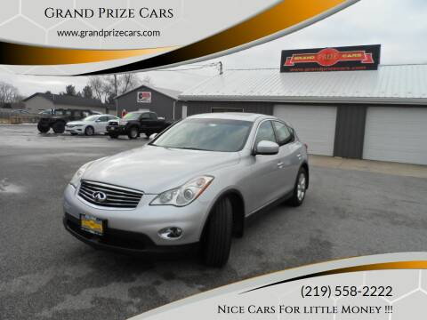 2010 Infiniti EX35 for sale at Grand Prize Cars in Cedar Lake IN