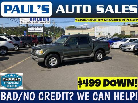 2001 Ford Explorer Sport Trac for sale at Paul's Auto Sales in Eugene OR