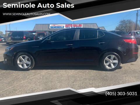 2014 Kia Optima for sale at Seminole Auto Sales in Seminole OK
