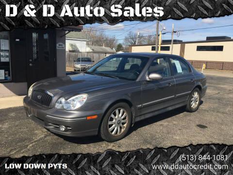 2003 Hyundai Sonata for sale at D & D Auto Sales in Hamilton OH