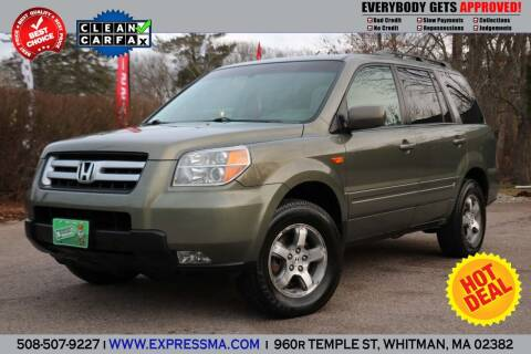 2007 Honda Pilot for sale at Auto Sales Express in Whitman MA
