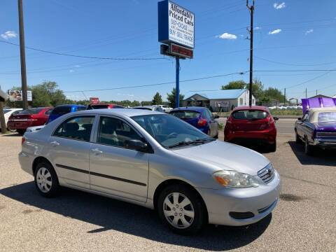 2007 Toyota Corolla for sale at AFFORDABLY PRICED CARS LLC in Mountain Home ID