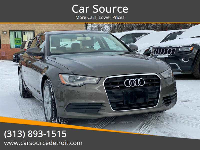 2013 Audi A6 for sale at Car Source in Detroit MI