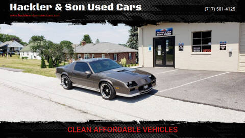 1984 Chevrolet Camaro for sale at Hackler & Son Used Cars in Red Lion PA