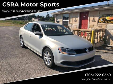 2011 Volkswagen Jetta for sale at CSRA Motor Sports in Augusta GA