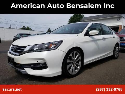 2014 Honda Accord for sale at American Auto Bensalem Inc in Bensalem PA