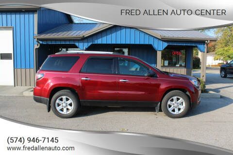 2015 GMC Acadia for sale at Fred Allen Auto Center in Winamac IN