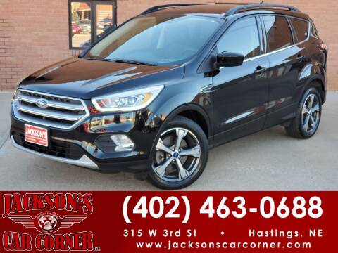 2017 Ford Escape for sale at Jacksons Car Corner Inc in Hastings NE