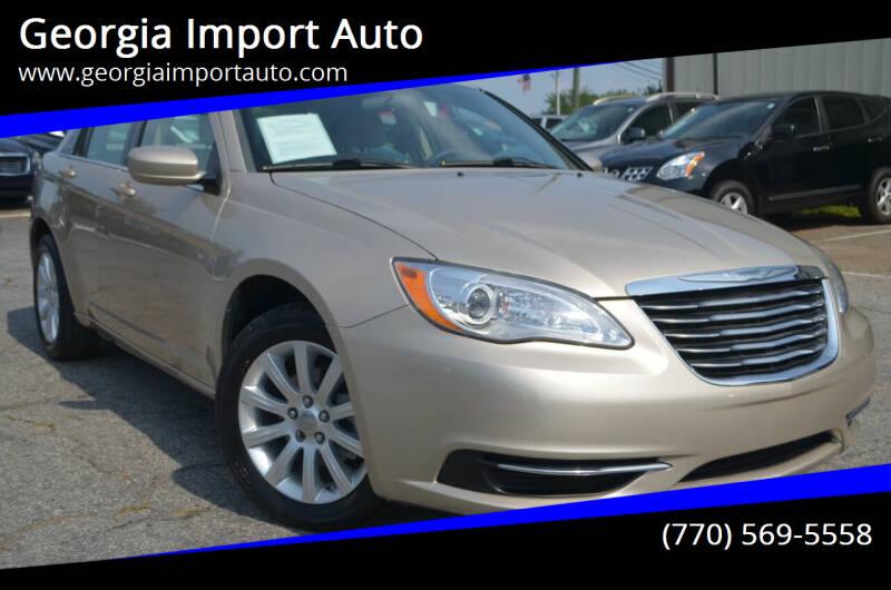 2013 Chrysler 200 for sale at Georgia Import Auto in Alpharetta GA