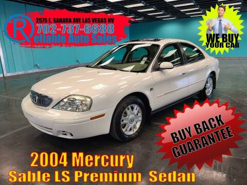 2004 Mercury Sable for sale at Reliable Auto Sales in Las Vegas NV