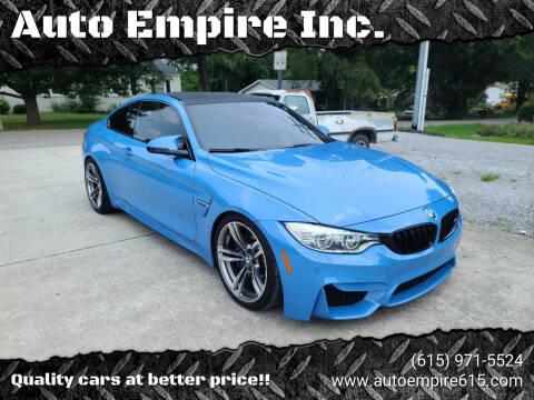 2015 BMW M4 for sale at Auto Empire Inc. in Murfreesboro TN