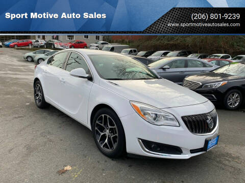 2017 Buick Regal for sale at Sport Motive Auto Sales in Seattle WA
