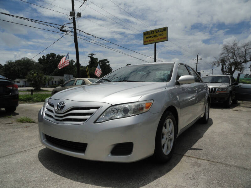 2011 Toyota Camry for sale at GREAT VALUE MOTORS in Jacksonville FL