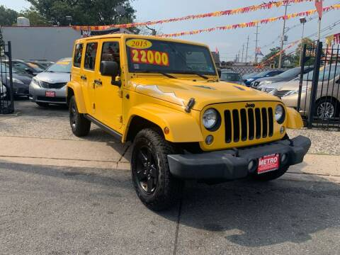 2015 Jeep Wrangler Unlimited for sale at Metro Auto Exchange 2 in Linden NJ