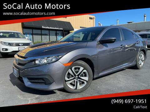 2017 Honda Civic for sale at SoCal Auto Motors in Costa Mesa CA