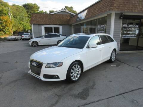 2010 Audi A4 for sale at Millbrook Auto Sales in Duxbury MA
