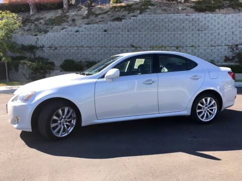 2007 Lexus IS 250 for sale at CALIFORNIA AUTO GROUP in San Diego CA