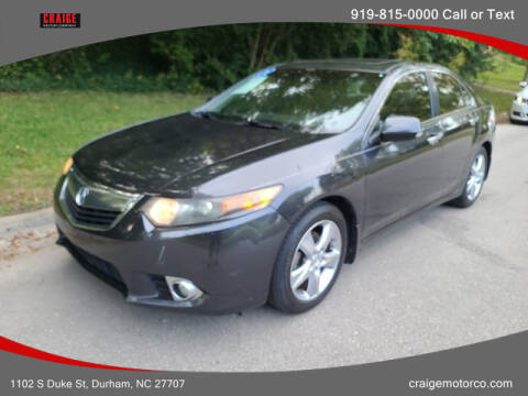 2012 Acura TSX for sale at CRAIGE MOTOR CO in Durham NC
