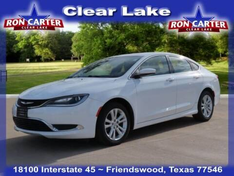 2015 Chrysler 200 for sale at Ron Carter  Clear Lake Used Cars in Houston TX