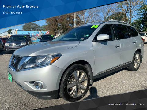 2014 Nissan Pathfinder for sale at Premier Auto Brokers in Virginia Beach VA