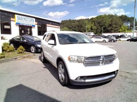 2013 Dodge Durango for sale at S & S Motors in Marietta GA