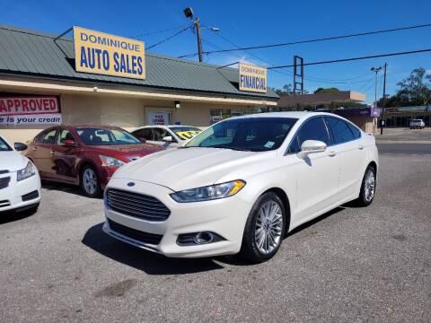 2015 Ford Fusion for sale at Dominique Auto Sales in Opelousas LA