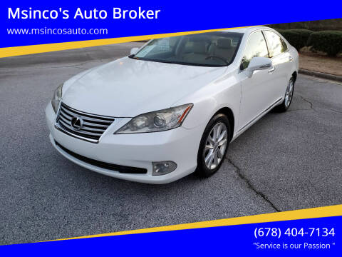2010 Lexus ES 350 for sale at Msinco's Auto Broker in Snellville GA