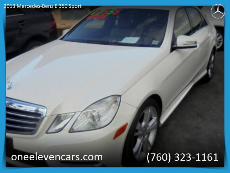 2013 Mercedes-Benz E-Class for sale at One Eleven Vintage Cars in Palm Springs CA