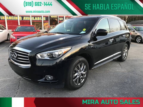 2015 Infiniti QX60 for sale at Mira Auto Sales in Raleigh NC