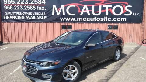 2017 Chevrolet Malibu for sale at MC Autos LLC in Pharr TX