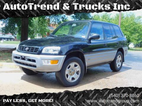 2000 Toyota RAV4 for sale at AutoTrend & Trucks Inc in Fredericksburg VA