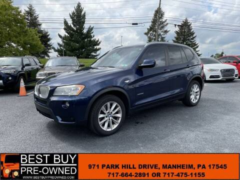 2014 BMW X3 for sale at Best Buy Pre-Owned in Manheim PA