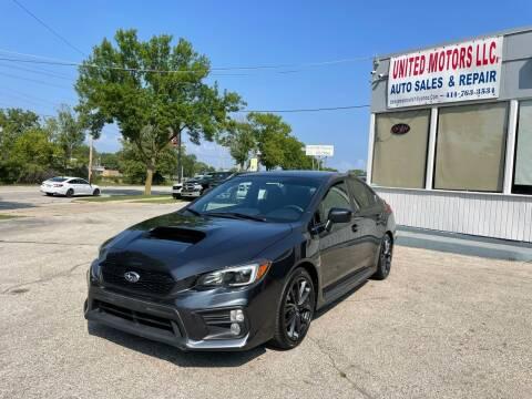 2018 Subaru WRX for sale at United Motors LLC in Saint Francis WI