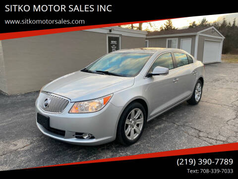 2010 Buick LaCrosse for sale at SITKO MOTOR SALES INC in Cedar Lake IN