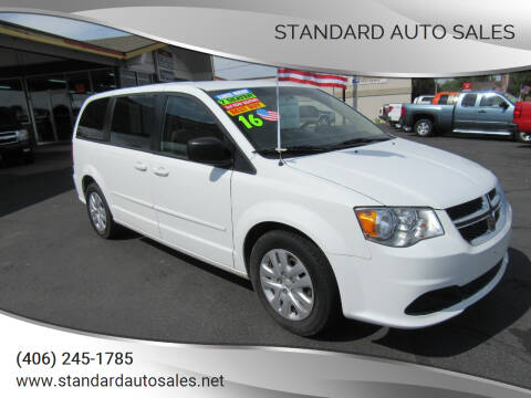 2016 Dodge Grand Caravan for sale at Standard Auto Sales in Billings MT